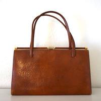 1950s Vintage Leather Hnadbag Brown