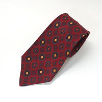 《送料無料》Tootal / Black quality Rayon Red Tie (no.327)