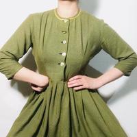 1920s Work Dress Green