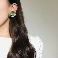 Maybe 50s Flower Earings Green《送料無料》 (no.194)