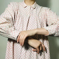 Vintage Shirt DressRed/White  (no.215)