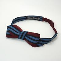 《送料無料》Vintage Red Stripe Bow tie   (no.287)