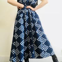 Maybe 1980s Indigo Long Vest/ Dress