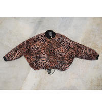 90's Leopard Pattern  100% Rayon Short Length Jacket