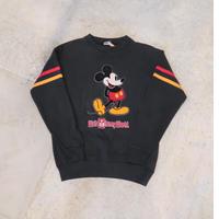 80's Walt Disney World Mickey Flocky Print Sweat Shirt