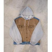 80's~90's Denim × Sweat Design Jacket Unisex