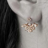 10金ブルームトパーズイヤージャケット(天然ホワイトトパーズ)[Elenore Jewelry]