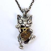 銀福~招き猫のペンダント~