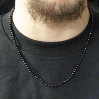 ブラックスピネルネックレス(4.0mm)