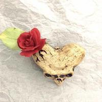 ハートスカル花器~壁掛け~