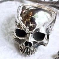 【即納可能サイズ#21号】Human Skull Ring02