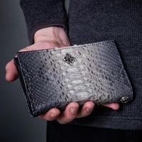 【新作!先行予約受付中!】グレーパイソンミディアムウォレット~Gray python Medium wallet~[Artemis Classic]