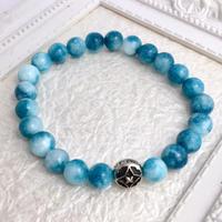 海色水晶数珠ブレス8mm