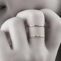 【13号即納可能!】ダブルリング[Elenore Jewelry]