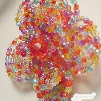 お花のコサージュブローチ(カラフル小)