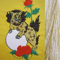 玉獅子・金×白房・長さ105cm
