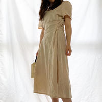 【予約】lace up linen one piece