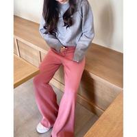 【即納】casual nit pants/pink