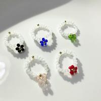 【ハンドメイド・受注制作】Flower white ring