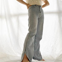 【予約】straight slit Pants