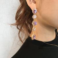 long jewelry pierce/purple,red