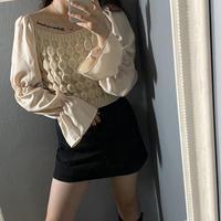 【即納】Flare sleeve knit