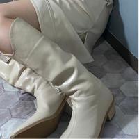 long aux leather boots