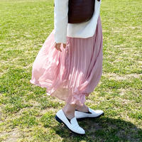 【即納】pastel Pleats skirt/pink,mint