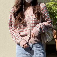 【即納】Vintage tweed cardigan