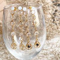 【ハンドメイド・受注制作】drop Chanel stone pierce/Earring