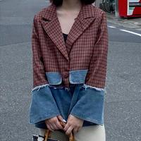 【即納】2torn jacket/Plaid