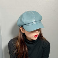 【即納】Faux leather casquette