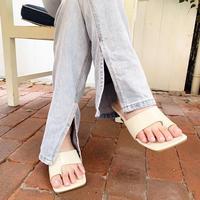 【予約】fake leather sandals