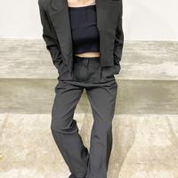 【即納】short jacket set up/Black