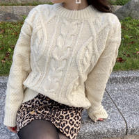 Cable pattern knit