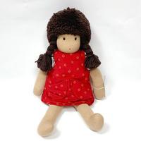 ジルケ人形(小)女の子 茶髪赤ポッケ
