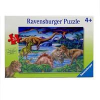 ジグソーパズル 恐竜たちの遊び場