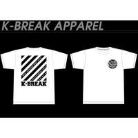K-BREAKストライプ Tシャツ(ホワイト)