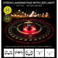 ドローン用ヘリポート ランプ付き ランディングパッド 70cm 夜行飛行 単三電池2本