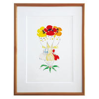 Print - The Pansies (Wood Frame)
