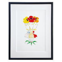 Print - The Pansies (Black Frame)