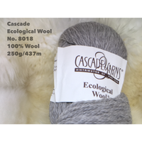 [Cascade] Ecological Wool - 8018(Silver)