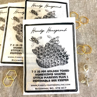 [FireflyNotes] Stitch Markers  with Progress Keeper (Honeycombs & Bee)