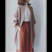 [K2tog] 翻訳編図付キット K21-045 Gown Cardigan Long version (size M-L)
