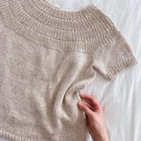 [K2tog] 翻訳編図付キット K21-001 Anker's Summer Shirt (XS size)