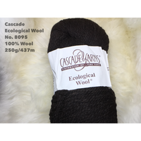 [Cascade] Ecological Wool - 8095(Ebony)