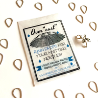 [FireflyNotes] Stitch Markers  with Progress Keeper (Raindrops & Umbrella)