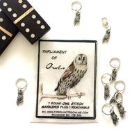 [FireflyNotes] Stitch Marker  Pack Owl