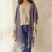 [K2tog] 編図付キット K19-005 Fringed Kimono (S-M size)