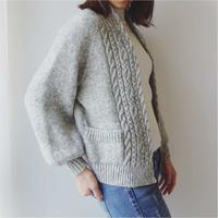 [K2tog] 翻訳編図付キット K21-046 Gown Cardigan Short version (size S)